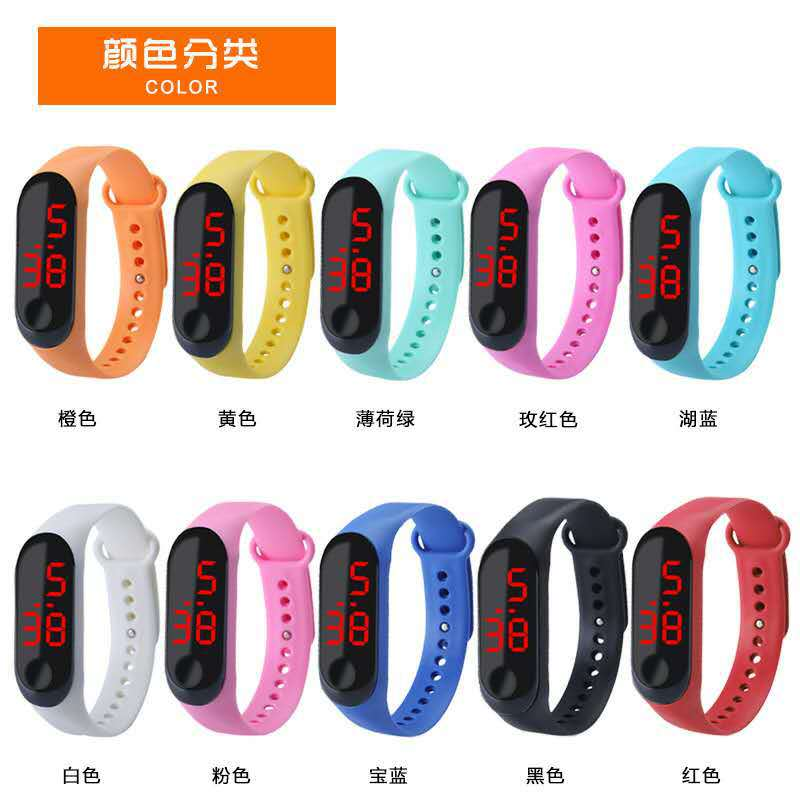 Promotion Gift Cheap Silicone LED Digital Watch