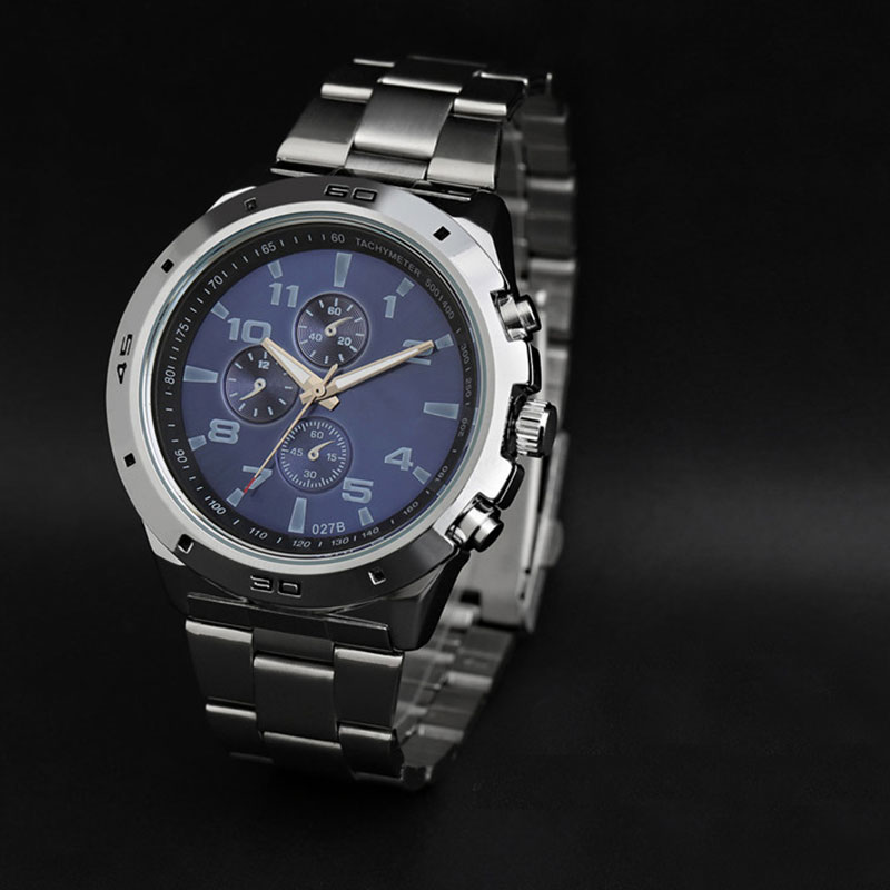 Luxury Classic Chronograph Stainless Steel Watch