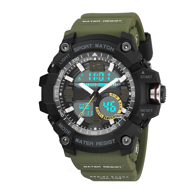 Chronograph LED Digital Waterproof Mens Sport Watch