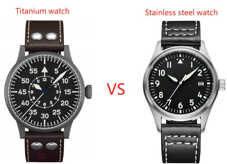 How to choose titanium watch and stainless steel watch or their difference?