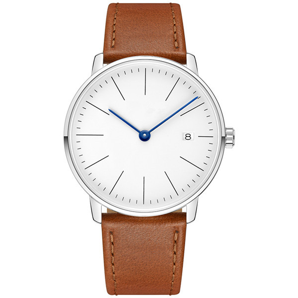 Minimalist Japan Quartz Genuine Leather Mens Watch