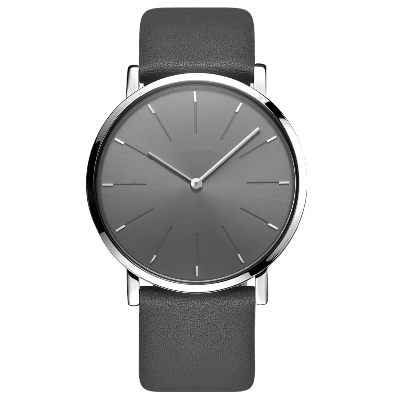 Custom OEM Fashion Simple Minimalist Leather Strap Mens Watch