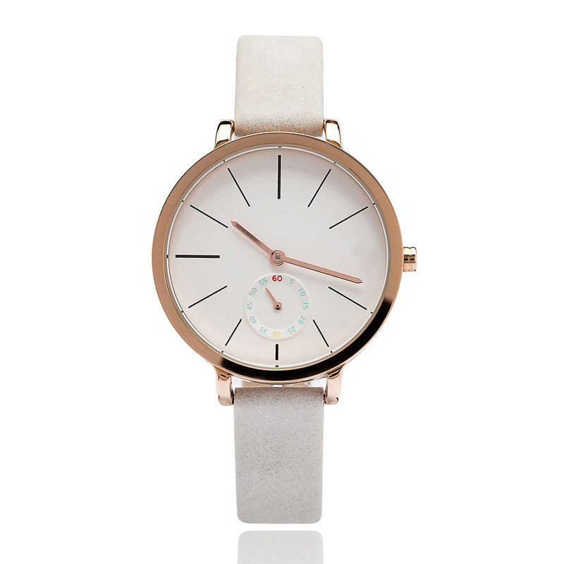 Vogue Minimal Stainless Steel Leather Ladies Watches Women