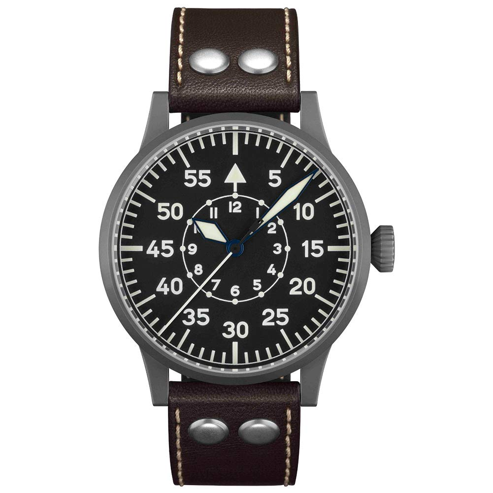 Top Quality Unique Leather Pilot Aviation Custom OEM Titanium Watches Men