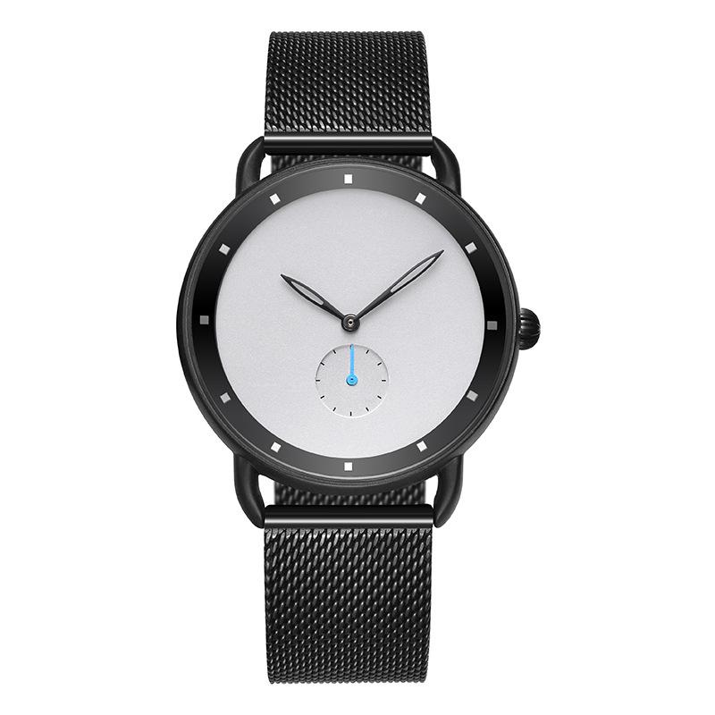 Custom Logo OEM Minimalist Mesh Stainless Steel Watches Men Wrist